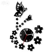 Butterflies Brings Stars 3D Acrylic Wall Clock Mx066 | Home Accessories for sale in Alimosho