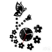 Beautiful Butterflies 3D Acrylic Wall Clock Mx066 DIY | Home Accessories for sale in Alimosho