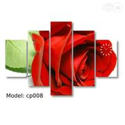 Rose Design Canvas Wall Art CP008 5 Pieces | Arts and Crafts for sale in Alimosho