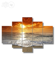 Golden Sunset Design Canvas Wall Art CP019 5 Pieces | Arts and Crafts for sale in Alimosho