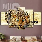 Blue Eyed Leopard Canvas Wall CP006 5 Piece | Arts and Crafts for sale in Alimosho