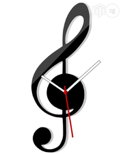 Musical Scale Design 3D Acrylic Wall Clock Mx089 | Home Accessories for sale in Alimosho