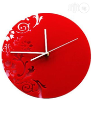 Flowery Design 3D Acrylic Wall Clock Mx090-r | Home Accessories for sale in Alimosho