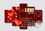 I LOVE YOU SPECIAL VAL GIFT CANVAS WALL ART CP032 5piece | Arts and Crafts for sale in Alimosho