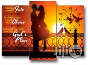 Faiyh Choice and Gods Plan Love Canvas Wall Art CP040 3piece | Arts and Crafts for sale in Alimosho