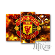MANCHESTER UNNITED FANS CLUB CANVAS WALL ART 3piece | Arts and Crafts for sale in Alimosho