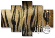 Plain Tiger Skin Canvas Wall Art Cp073 5piece | Arts and Crafts for sale in Alimosho
