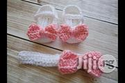 Crochet Baby Shoe With A Hairband | Babies and Kids Accessories for sale in Alimosho
