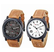 2in1 Curren Waterproof Unisex Watch - Brown | Watches for sale in Ikorodu
