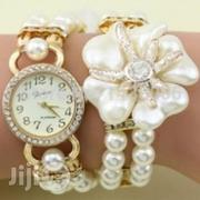 Ladies Rhinestone Watch With Pearls | Watches for sale in Ikorodu