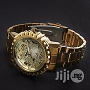 Winner Men's Skull Auto Mechanical Chain Watch - Gold | Watches for sale in Lagos