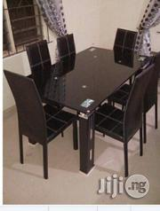 Authentic Dinning Glass Table And Chair | Furniture for sale in Ojo